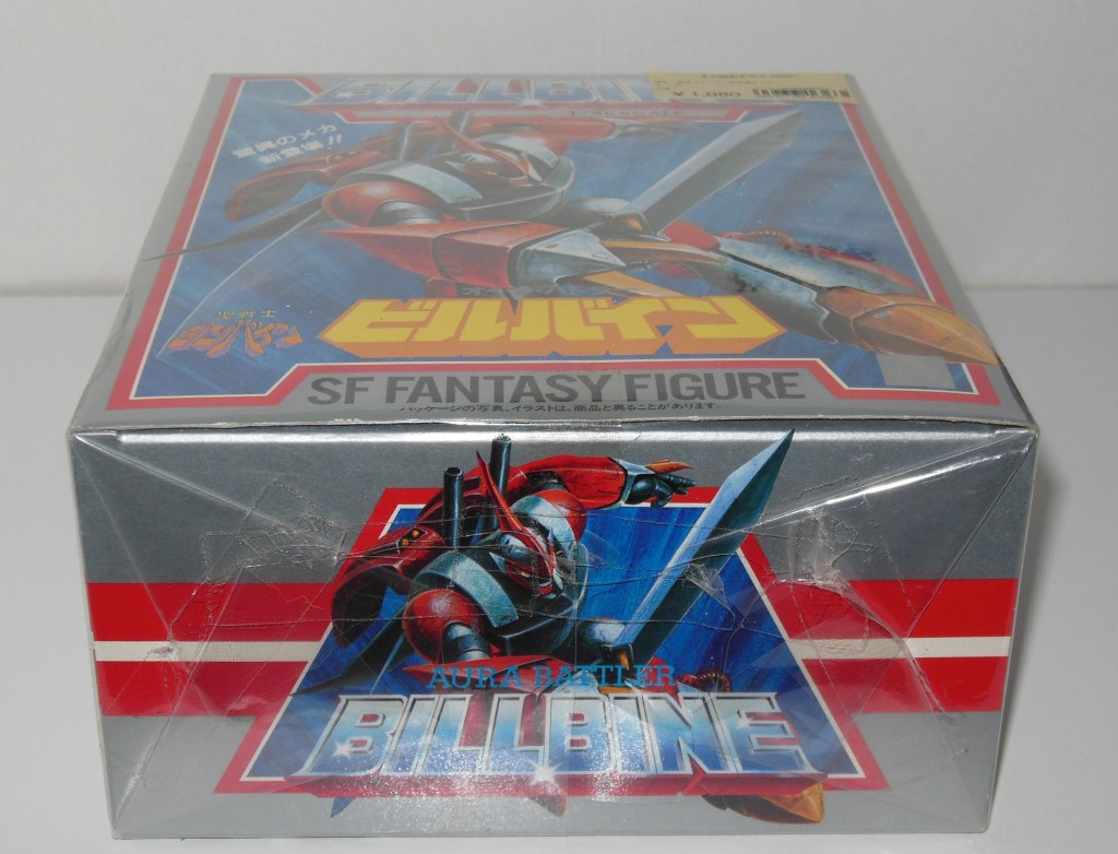 Aura Battler Billbine 1/46 scale SF Fantasy Figure KO Knockoff bottom of Box from anime Seisenshi Dunbine 1983-1984