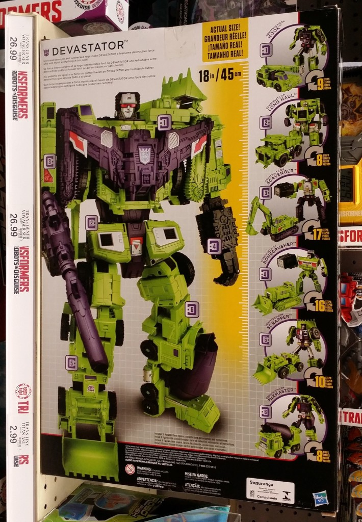 Transformers Generations Combiner Wars Devastator Figure Set Decepticons Hasbro 2015 box back