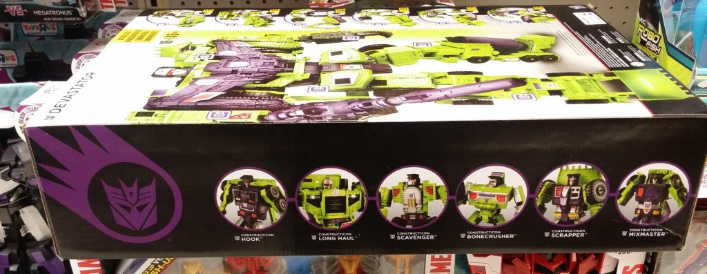 Transformers Generations Combiner Wars Devastator Figure Set Decepticons Hasbro 2015 box side