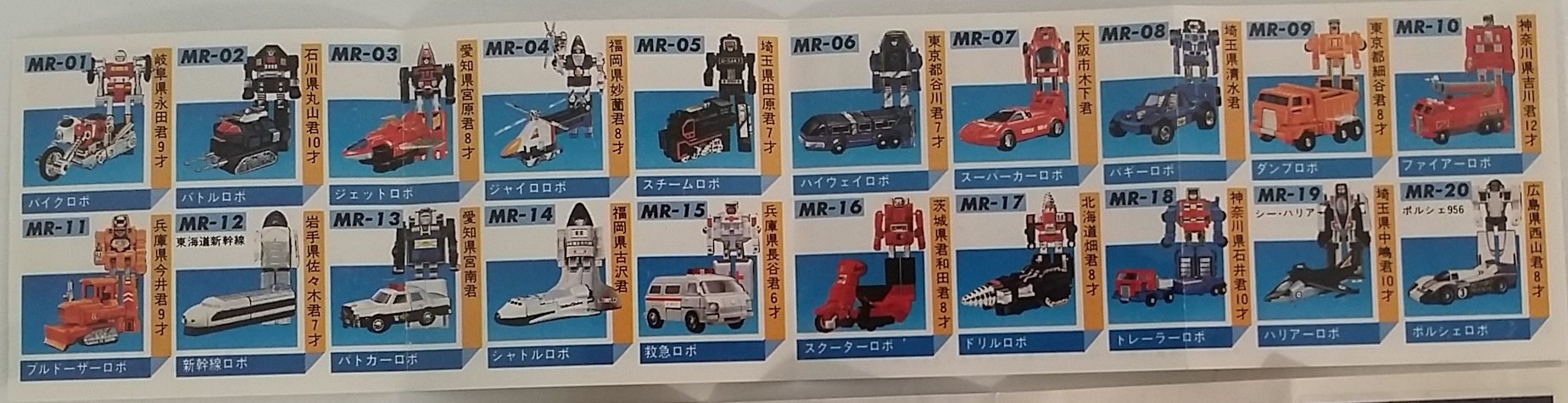 Machine Robo Series Catalog 1983 Popy/Bandai Japan Robot MR 600 lin