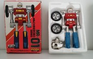 Machine Robo(マシンロボ) MachineRobo MR-01 Cy-Kill 1982 Popy Japan Bike Robo Machines Gobots Machine Men - box and styrofoam
