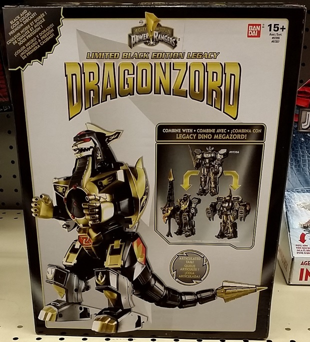 Power Rangers Limited Black Edition Legacy Dragonzord 2016 Toys R Us Black & Gold Version  by Bandai