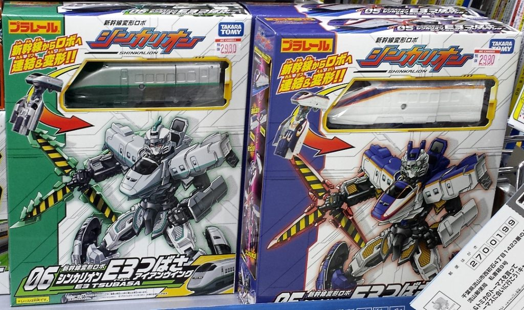 シンカリオン  新幹線, 変形 Mecha from the Tomy Plarail Shinkalion line E3 Tsubasa 05 and Tsubasa 06 Takara Tomy 2016 from Shinkansen Transformation Robo Shinkalion (新幹線変形ロボ シンカリオン)