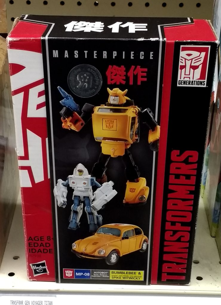 Transformers Masterpiece Bumblebee 2017 Hasbro MP 08 with Spike Witwicky Autobot front of box