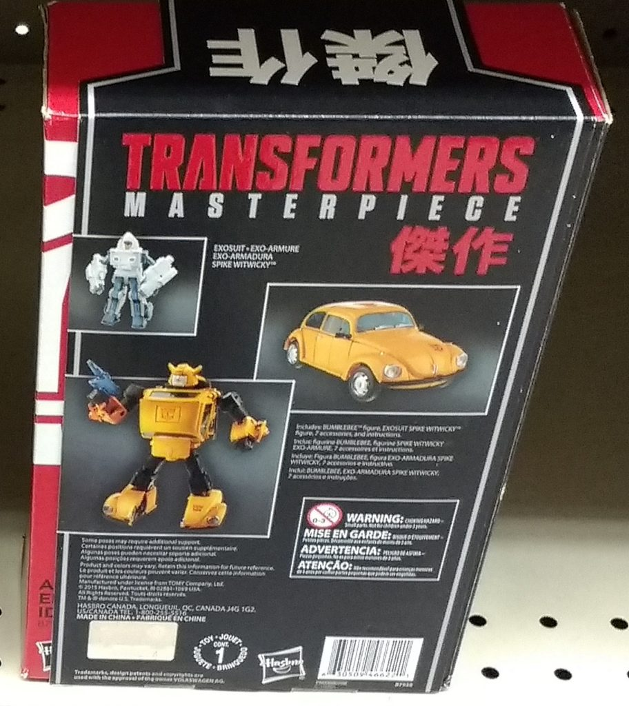 Bumblebee Masterpiece 2017 Hasbro MP-08 with Spike Witwicky Generation 1 Autobot G1 Generations